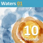 10 realistic digital watercolor brushes for Photoshop