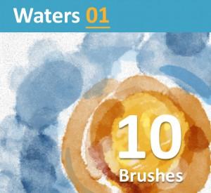 10 amazing realistic Photoshop watercolor Brushes