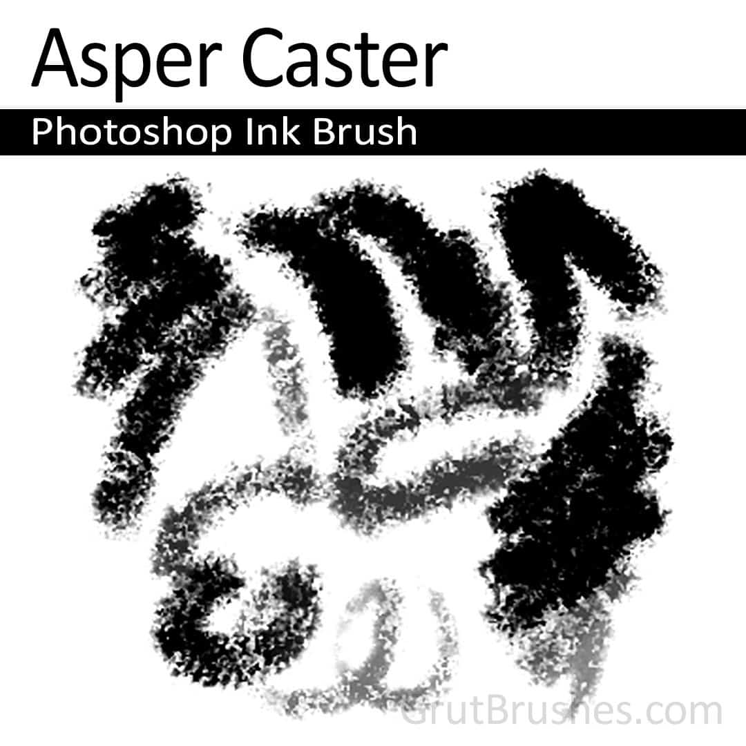 'Asper Caster' Photoshop ink brush for digital painting