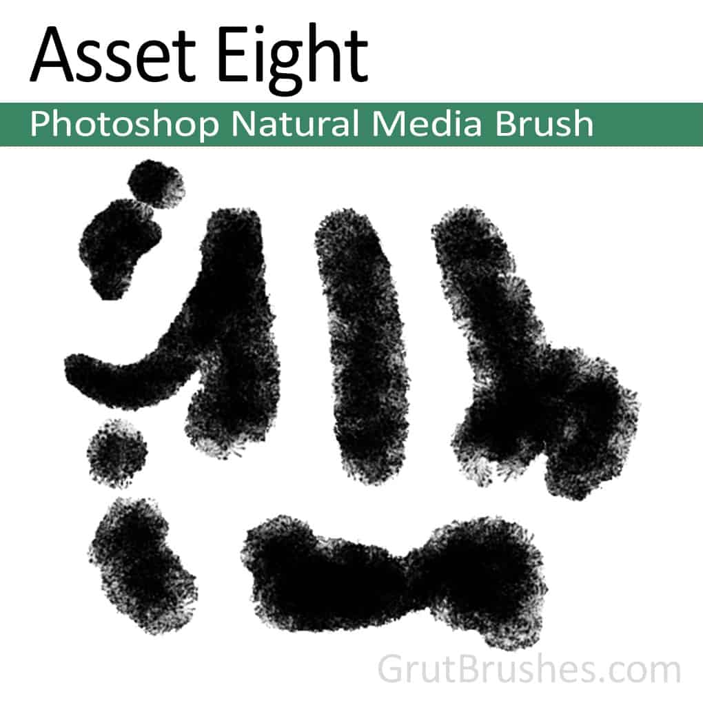 Photoshop Natural Media Brush 'Asset Eight'