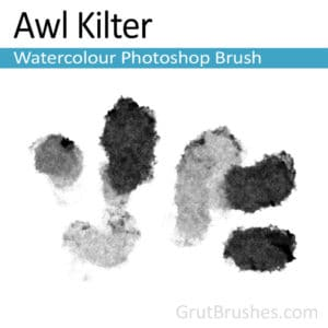 Photoshop Watercolour Brush for digital artists 'Awl Kilter'