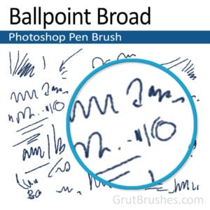 'Ballpoint Broad' Photoshop Ink brush ballpoint Photoshop pen