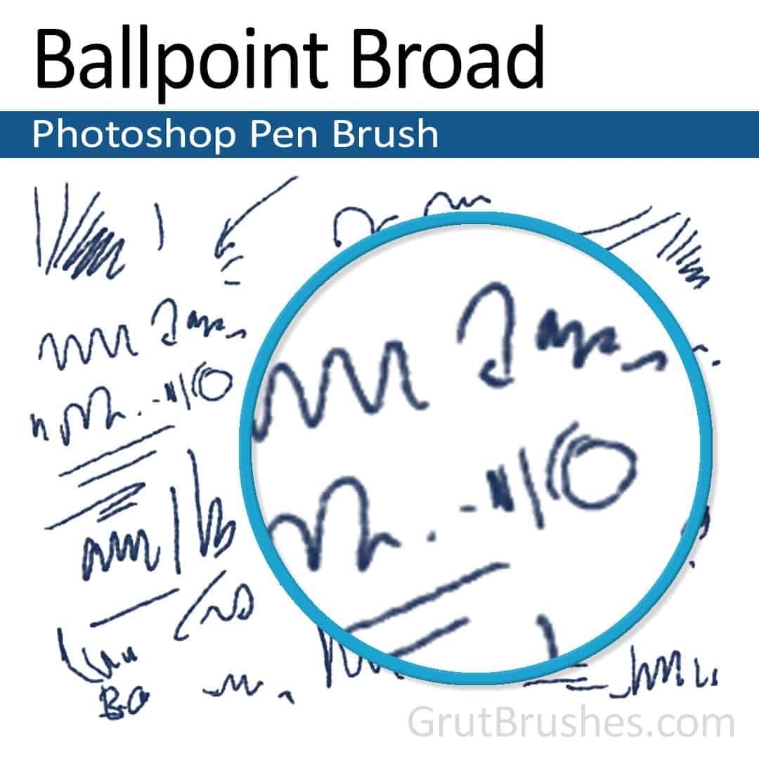'Ballpoint Broad' Photoshop Ink brush ballpoint Photoshop pen