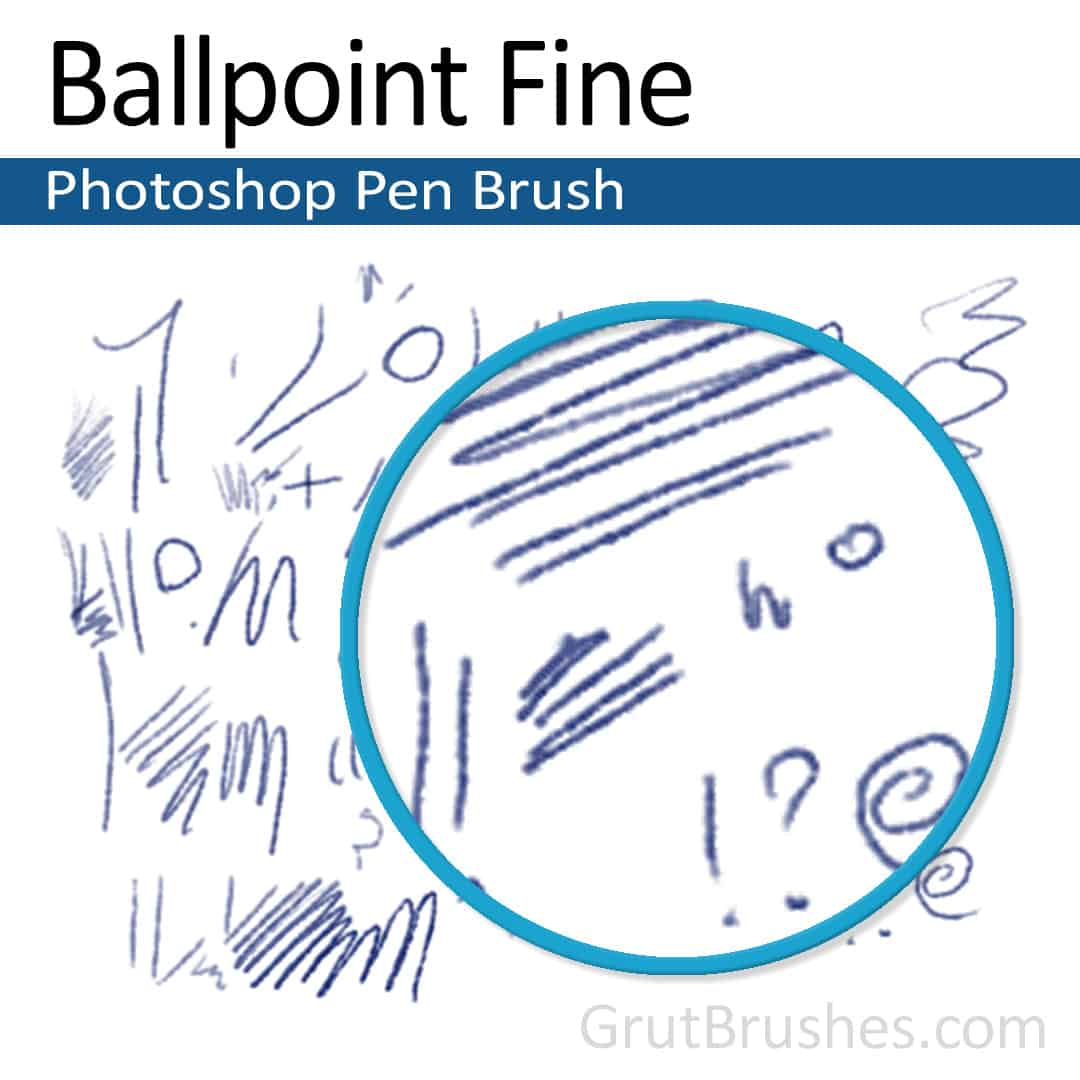 'Ballpoint Fine' Photoshop Ink brush ballpoint Photoshop pen