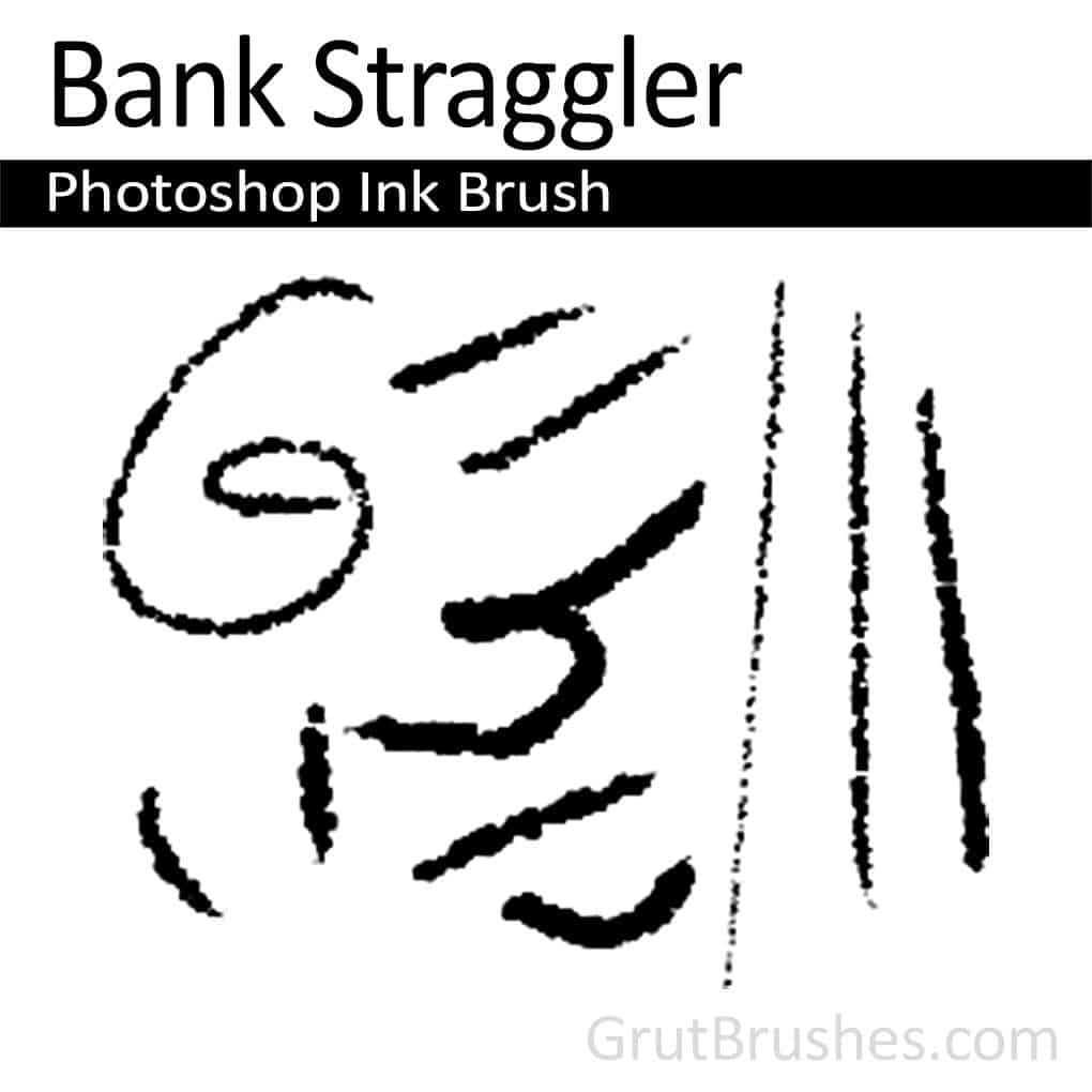 Photoshop Ink Brush for digital artists 'Bank Straggler'