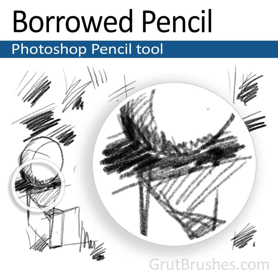 Realistic Photoshop Pencil tool
