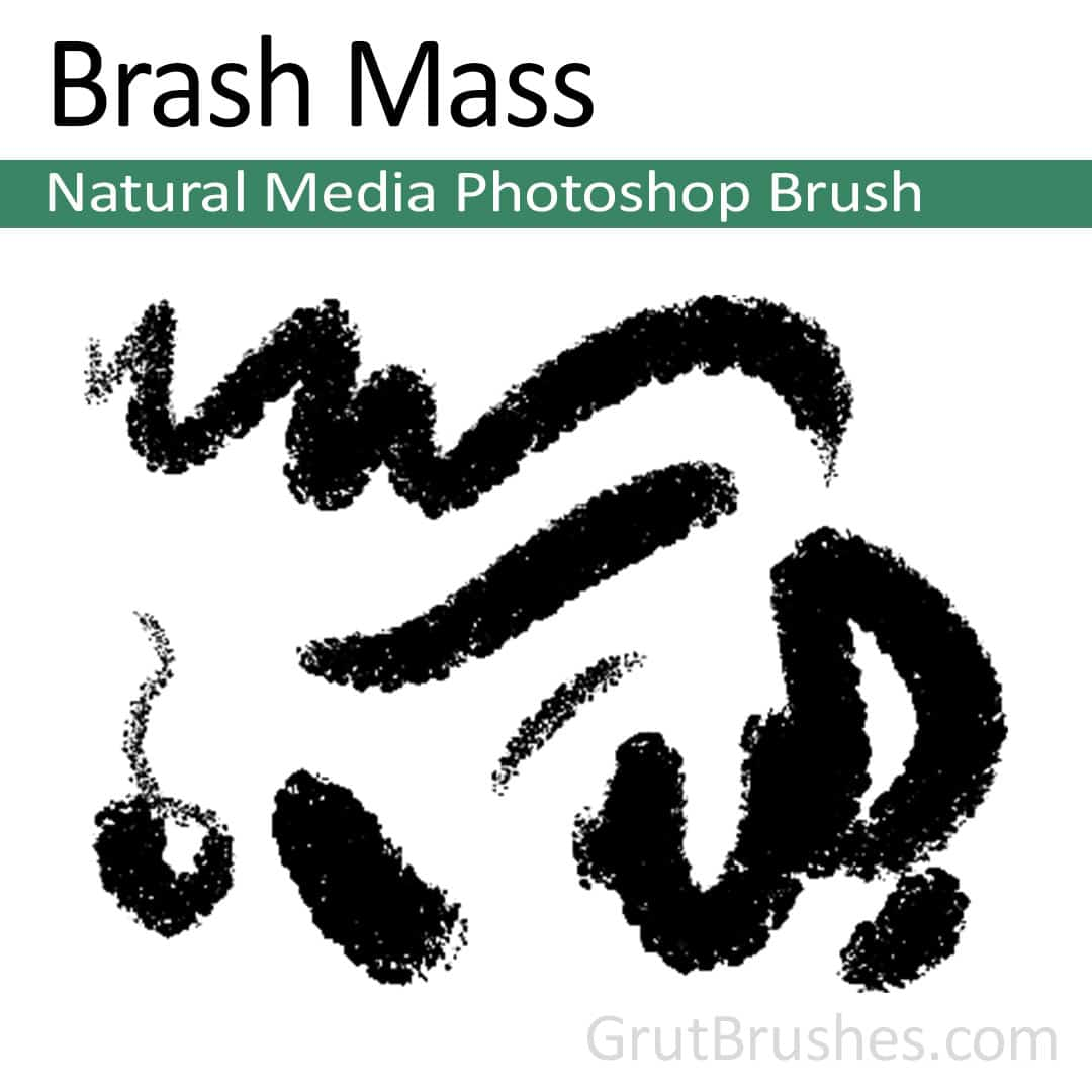 'Brash Mass' Photoshop Natural Media Brush for digital artists