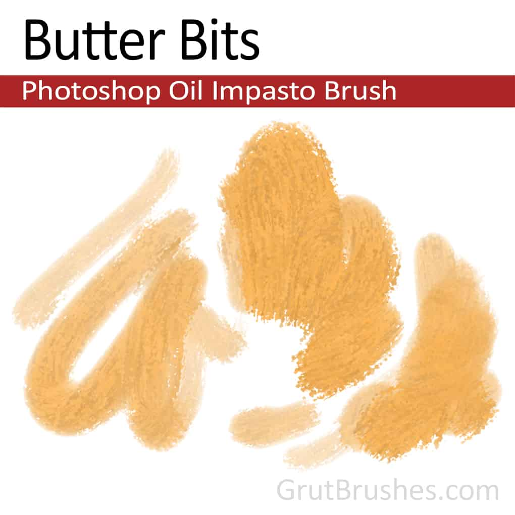 Photoshop Impasto Oil Brush for digital artists 'Butter Bits'