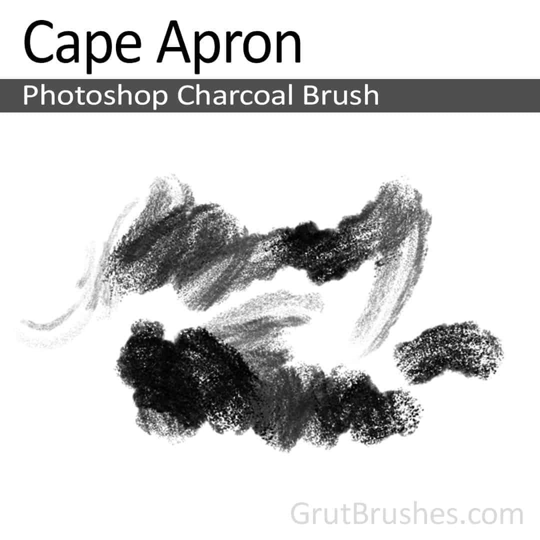 Photoshop Charcoal Brush for digital artists 'Cape Apron'