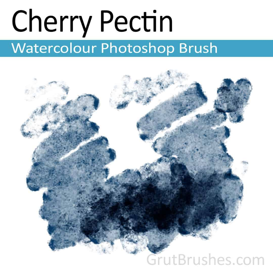 'Cherry Pectin' Photoshop watercolor brush for digital painting