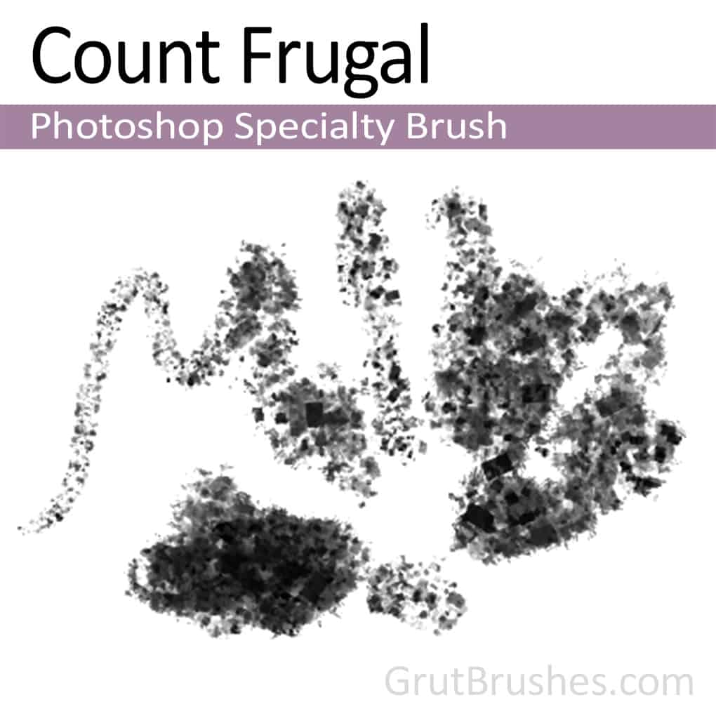 Photoshop Specialty brush 'Count Frugal'
