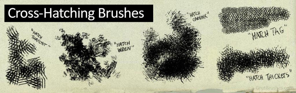 Cross-Hatch Photoshop Brushes