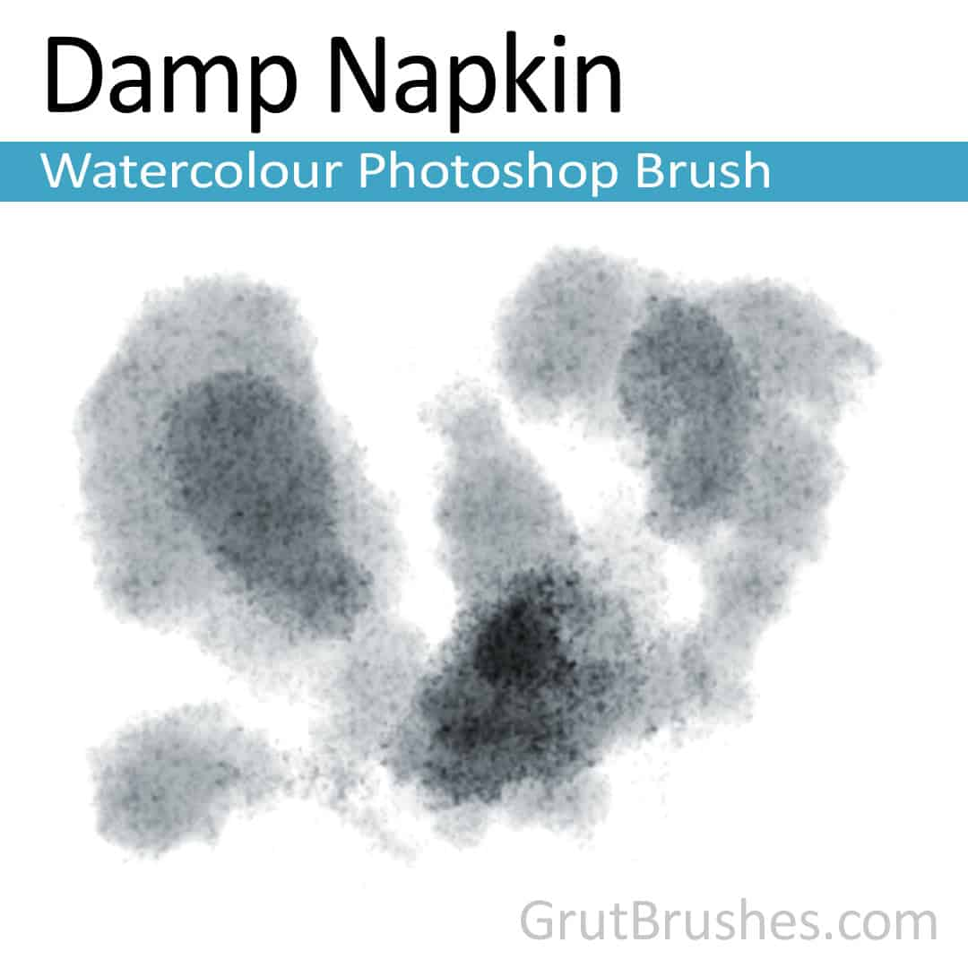 'Damp Napkin' Photoshop watercolor brush for digital painting