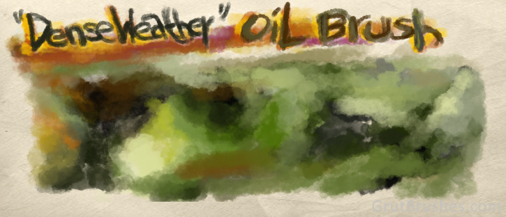 Blending colour with the dense weather Photoshop oil brush