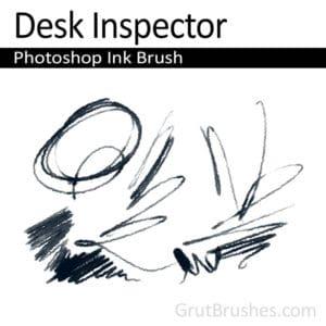 'Desk Inspector' Photoshop Ink Brush for digital artists
