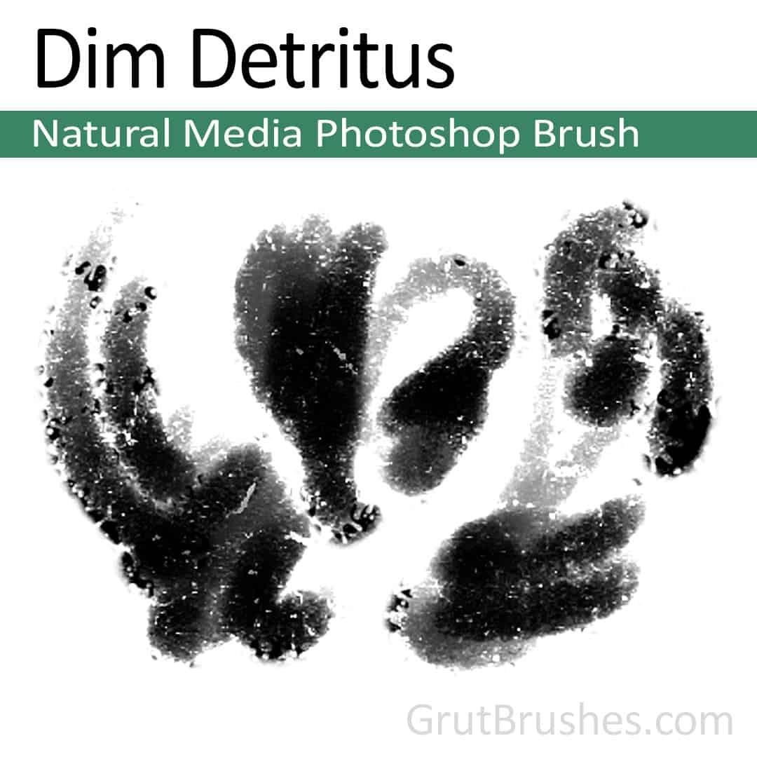 'Dim Detritus' Oil Pastel Photoshop Brush for digital artists