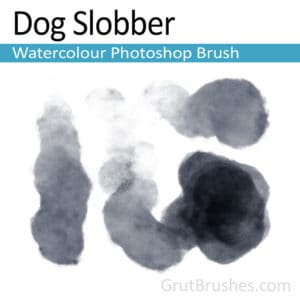 'Dog Slobber' Photoshop Watercolor Brush for digital artists