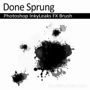 'Done Sprung' Photoshop Splatter Brush