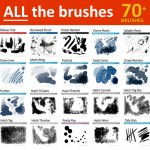 over 40 Photoshop brushes for digital artists
