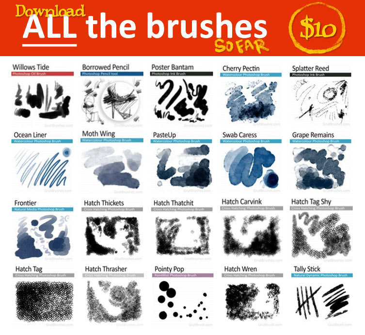 Download Every Photoshop brush