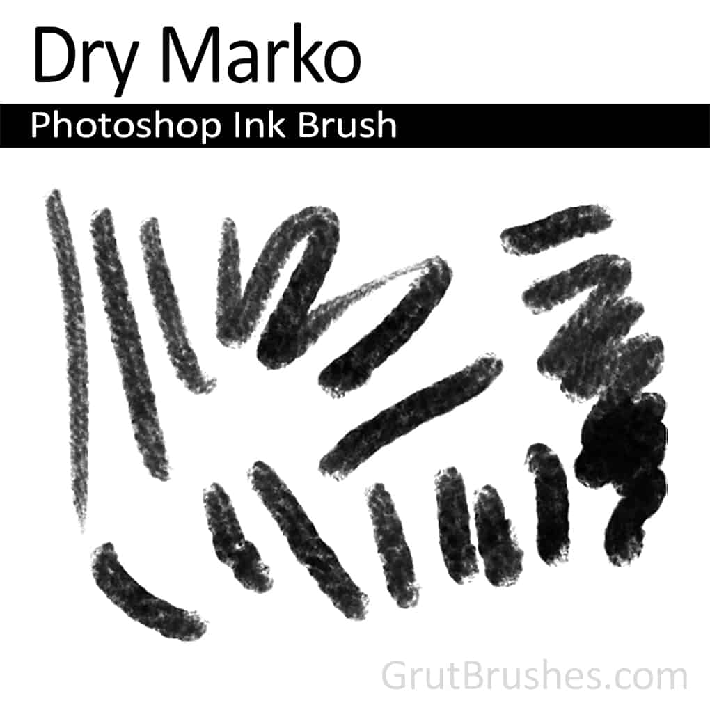 Photoshop Magic Marker Brush toolset 'Dry Marko' (dry felt tipped marker)