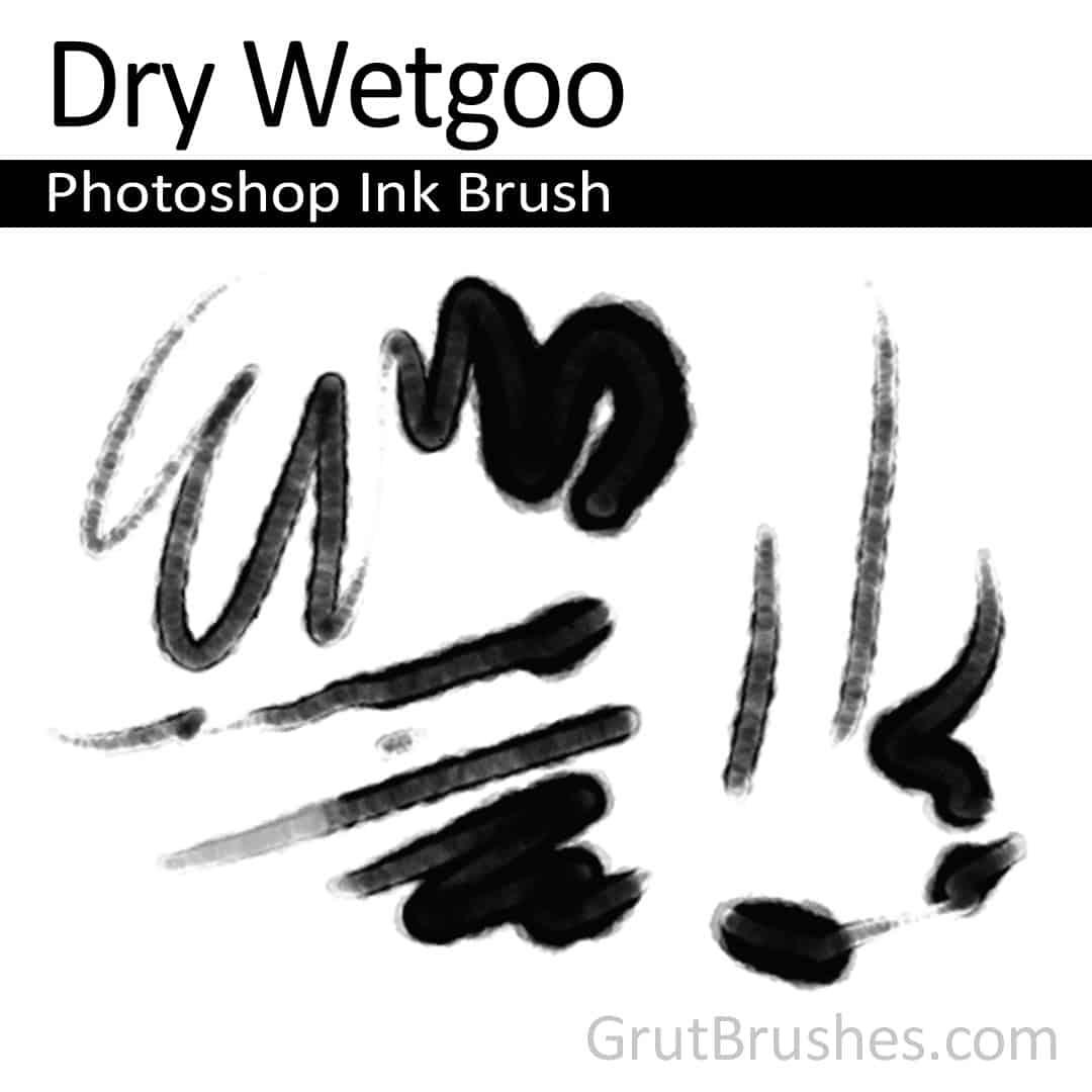 'Dry Wetgoo' Photoshop ink brush for digital painting