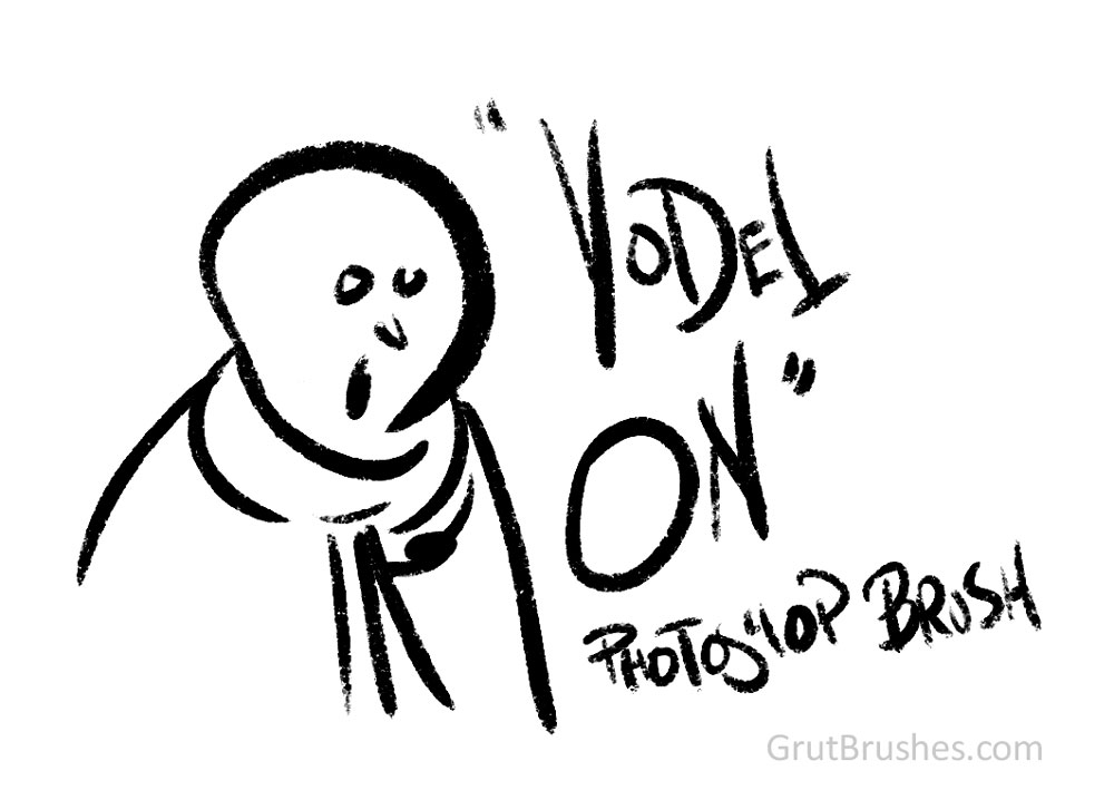 Free Photoshop Brush of the Week #17 'Yodel On' Photoshop Gouache brush