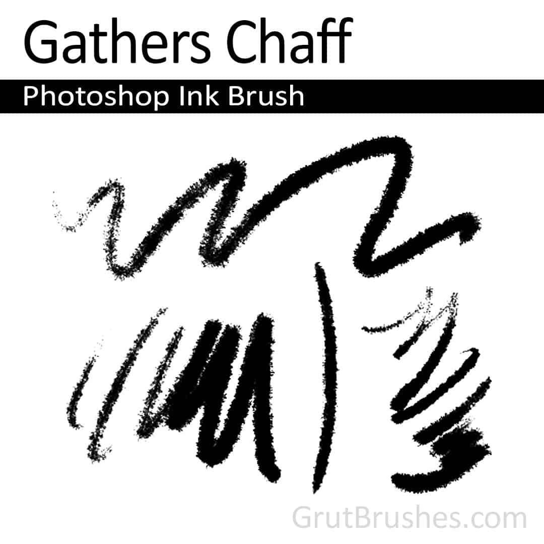 'Gathers Chaff' Photoshop ink brush for digital painting