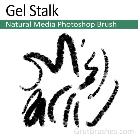 Photoshop Natural Media Brush 'Gel Stalk'