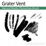 'Grater Vent' - Photoshop Charcoal Brush