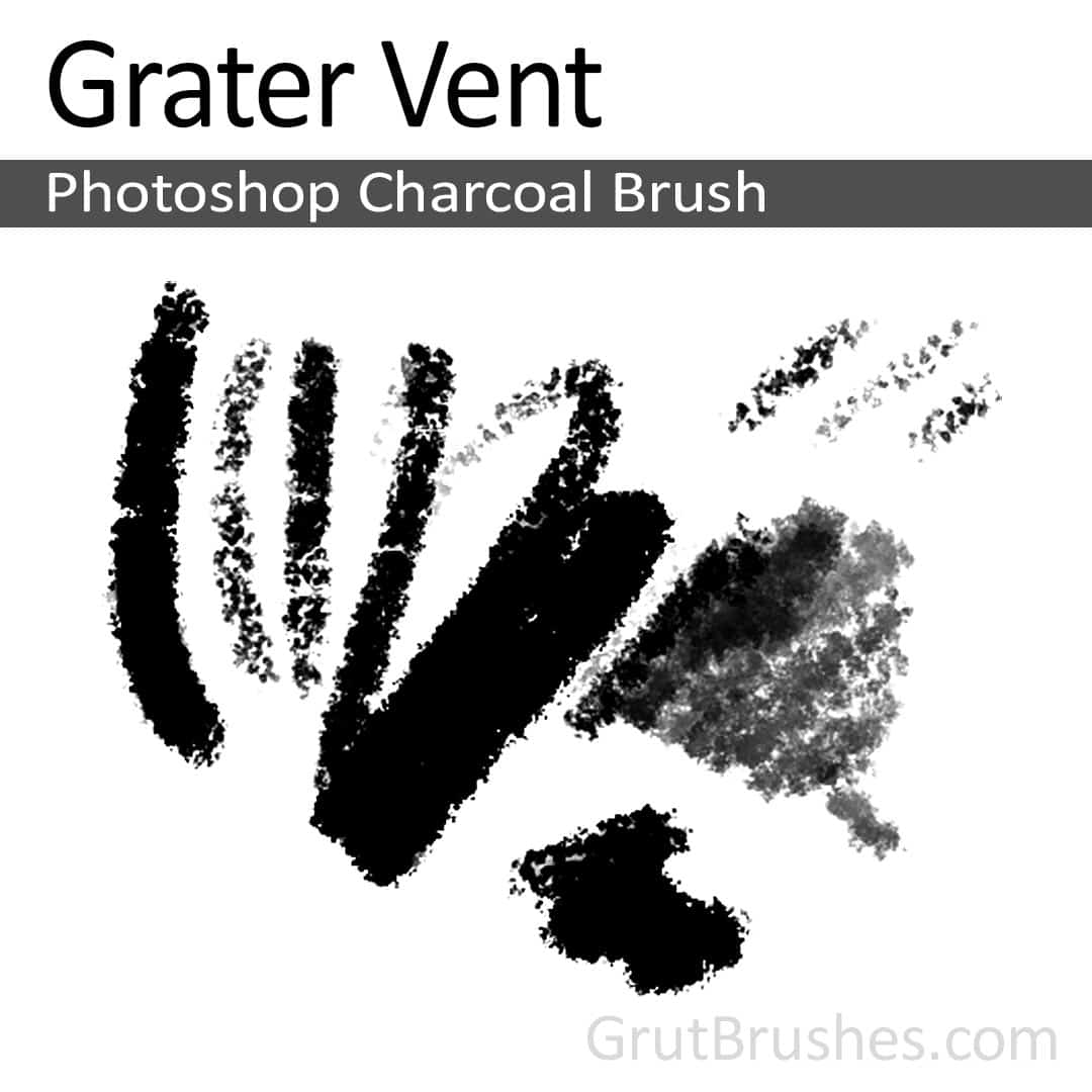 'Grater Vent' Photoshop Charcoal Brush for digital artists