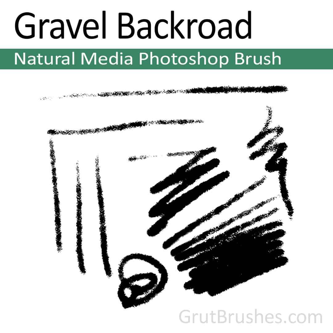 Gravel Backroad Natural Media Photoshop brush for digital painting