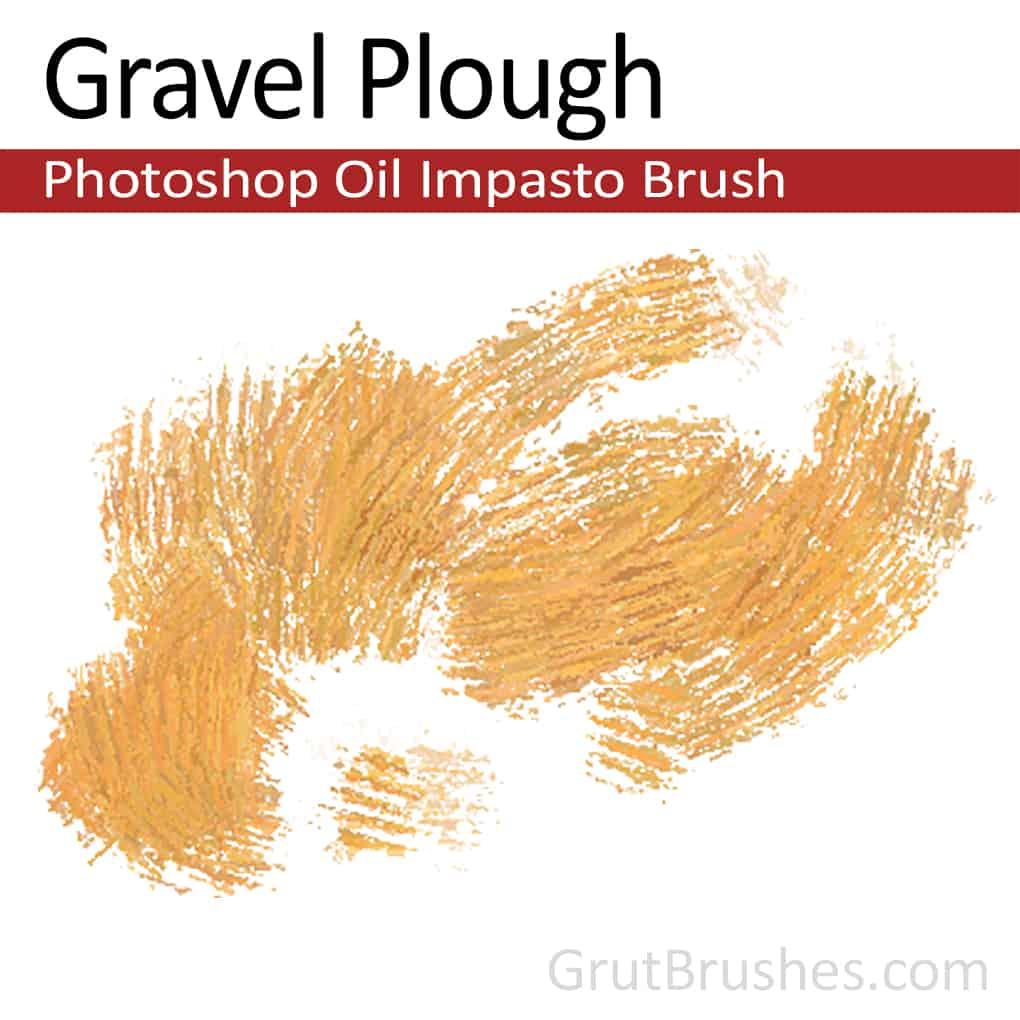 'Gravel plough' Impasto Oil Photoshop Brush for digital artists