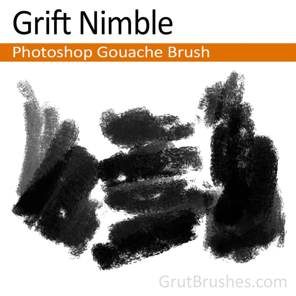 Photoshop Gauche Brush for digital artists 'Grift Nimble'