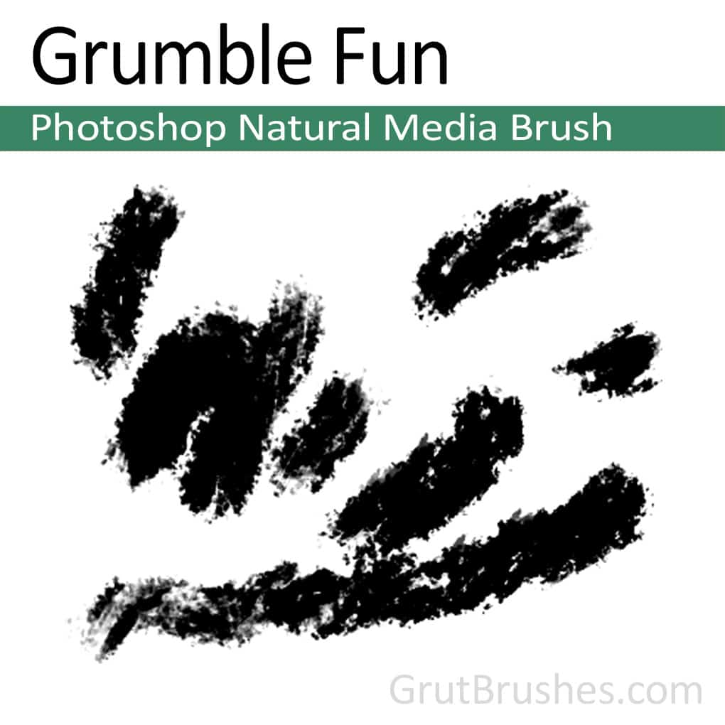 Photoshop Natural Media Brush for digital artists 'Grumble Fun'