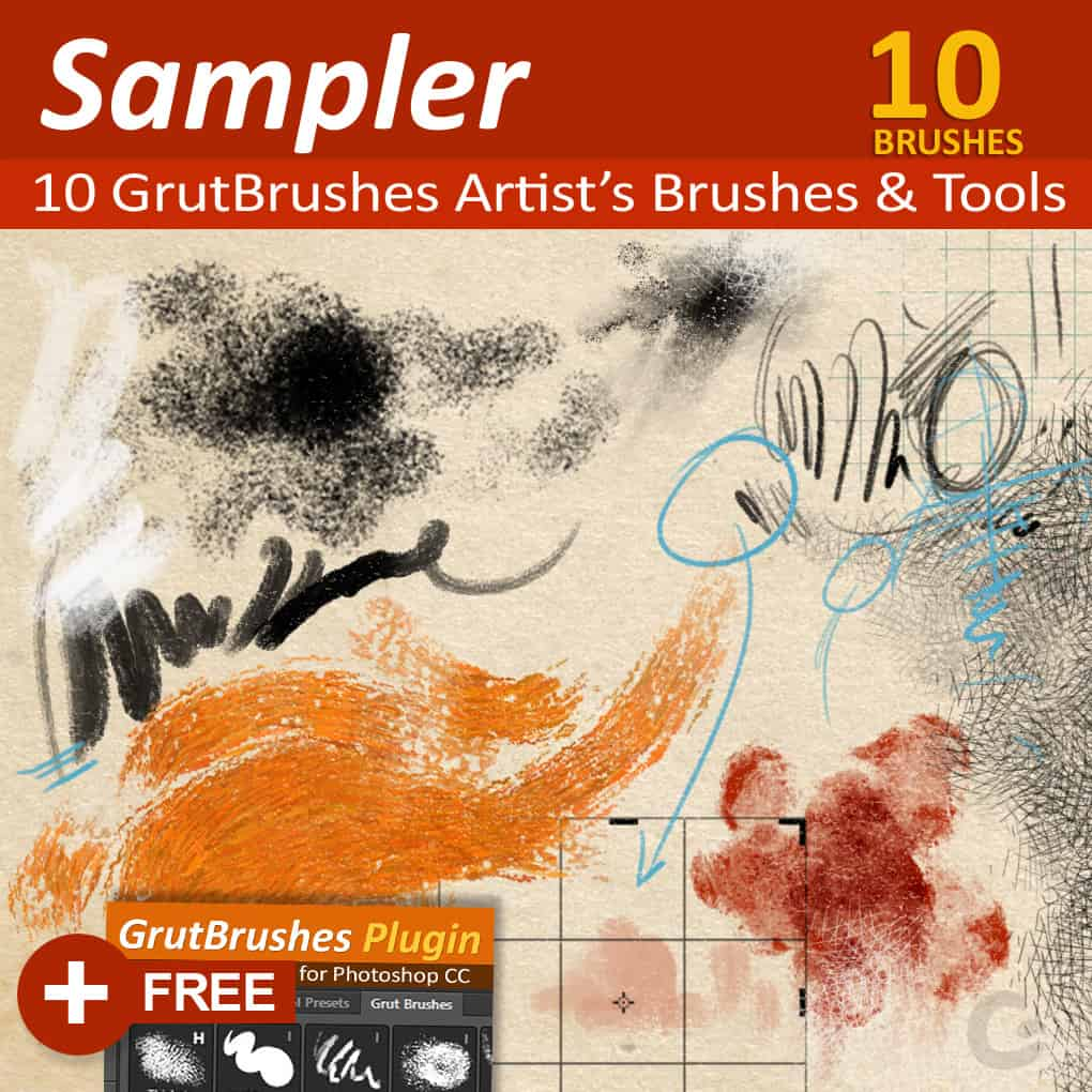 10 Free Photoshop Tools for GrutBrushes Photoshop plugin users