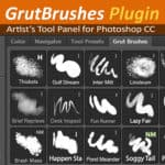 GrutBrushes Photoshop toolset brush panel extension plugin