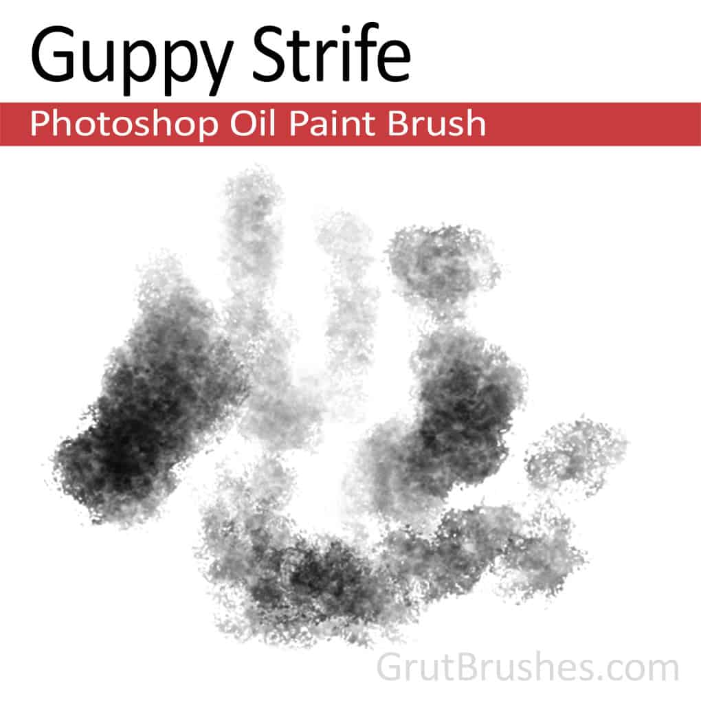 Photoshop Oil Brush for digital artists 'Guppy Strife'