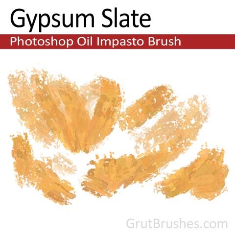 'Gypsum Slate' Impasto Oil Photoshop Brush for digital artists