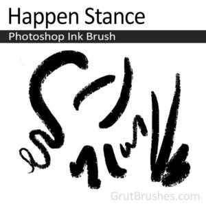 digital Ink pressure sensitive Photoshop Ink brush toolset 'Happen Stance'
