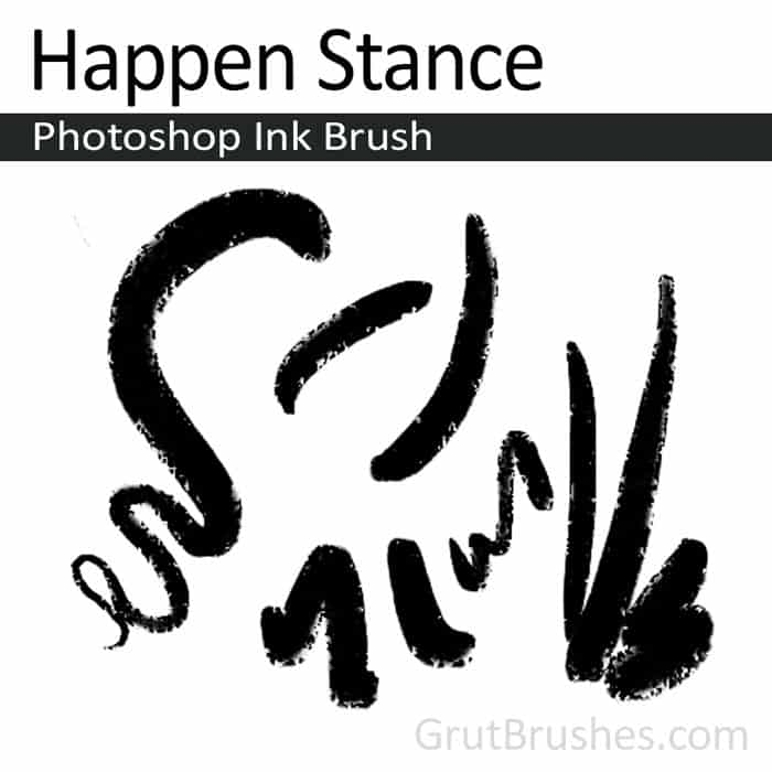 'Happen Stance' Photoshop ink brush for digital painting