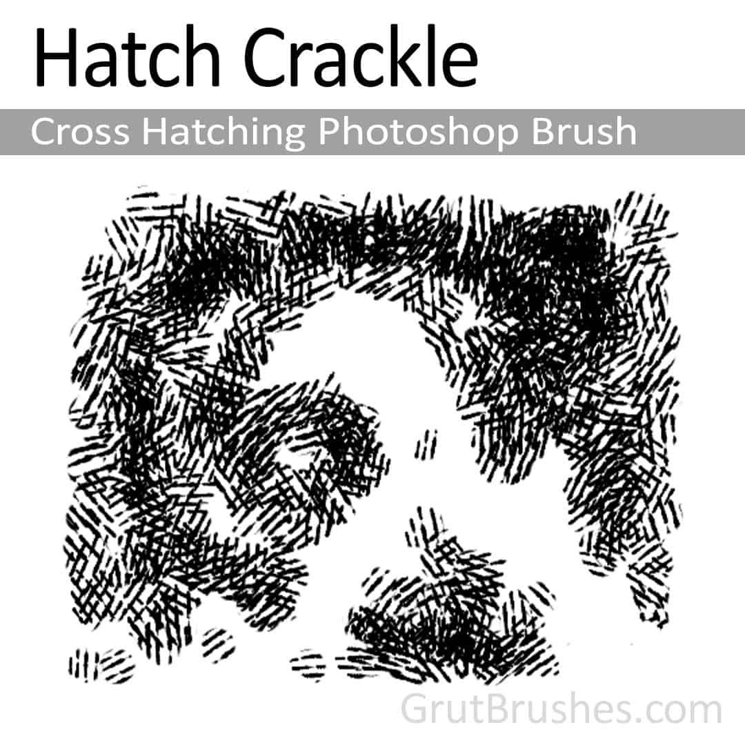 Hatch Crackle - Photoshop Cross Hatching Brush