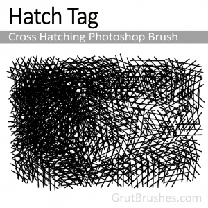 Pressure sensitive dynamic cross hatching Photoshop brush