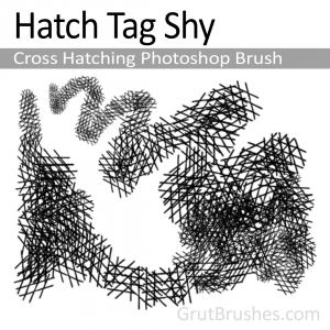 Hatch Tag Shy - Cross Hatching Photoshop Brush