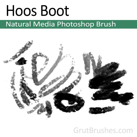 Photoshop Natural Media Brush 'Hoos Boot'