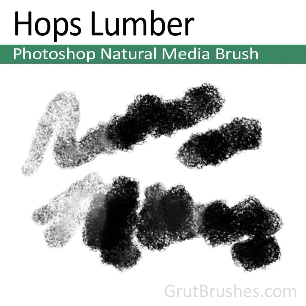 Photoshop Natural Media Brush for digital artists 'Hops Lumber'