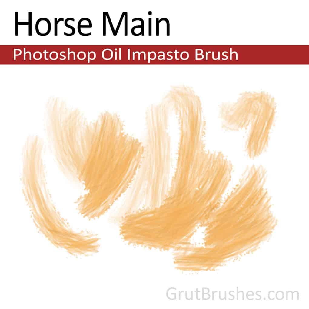 Horse-Main-Photoshop-Impasto-Oil-Brush