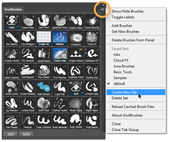 Save a custom set of Photoshop brushes