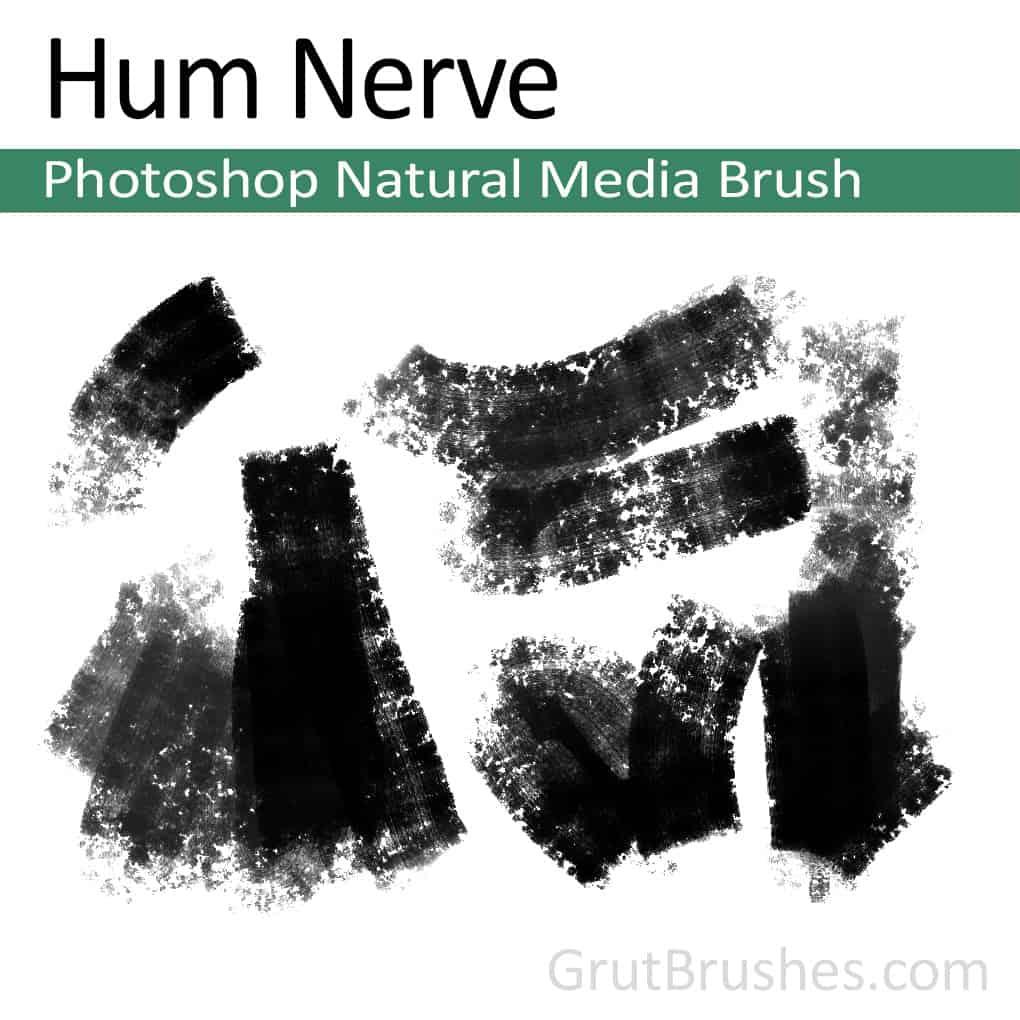Photoshop Natural Media Brush for digital artists 'Hum Nerve'