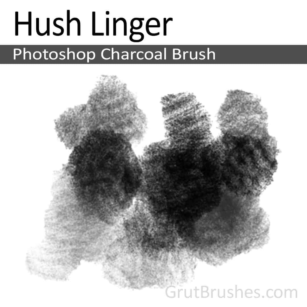 Photoshop Charcoal Brush for digital artists 'Hush Linger'